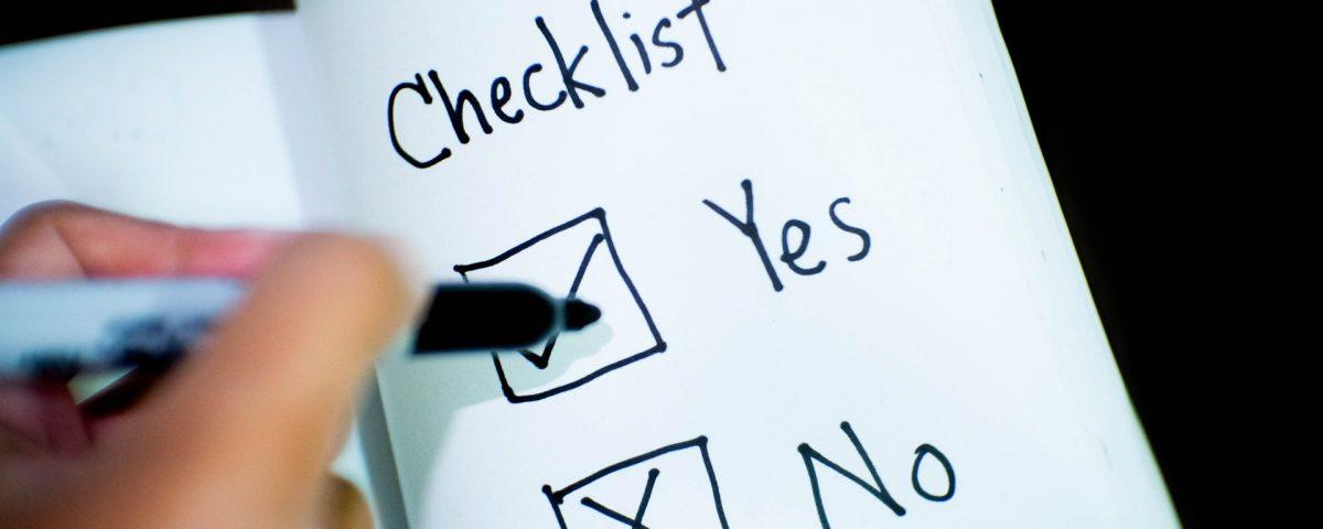 Het nut van een checklist